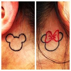 Mickey and Minnie behind the ears! Yes.... I wants it