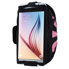 Phone arm band - TOOGOO(R)For Samsung Galaxy S6 S5 Sport Arm Band From Mobile Network New homes Pink. Made of high quality material in lightweight nylon with a transparent protective plastic membrane for the screen. Case flexible and light bracelet, provide full protection for the phone and the screen edge. Convenient and secure protection during transit and during the exercises. The belt is adjustable and good feeling. Easily removable and washable.