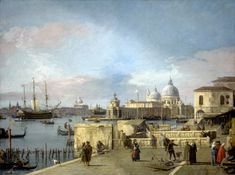54 Antonio Canal called Canaletto, Entrance to the Grand Canal from the Molo, 1742-44, London, National Gallery of Art, oil on canvas, cm 114.5x153.5