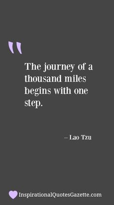 Inspirational Quote about Life and your journey - Visit us at InspirationalQuotesGazette.com for the best inspirational quotes!
