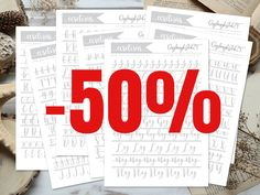 ✨Villám akció!✨🤩Most egy napig féláron megvásárolhatjátok a legújabb kalligráfia sablonomat 3 500 Ft helyett csak 1 750 Ft-ért. 😊 Nem lesz sűrűn ilyen akció, úgyhogy érdemes gyors lecsapni rá.😄 Az akció vége: 2012. február 19. 17:00 Calligraphy Tutorial, How To Write Calligraphy, Bullet Journal, Templates, Writing, Stencils, Vorlage, Being A Writer, Models