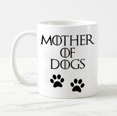 Game of thrones mug, mother of dogs mug, funny coffee mug, game of thrones gift, dog mom mug, dog lover mug, mother of dragons mug, dog mug Funny Coffee Mugs, Coffee Humor, Coffee Coffee, Game Of Thrones Gifts, Couple Mugs, Dog Games, Mom Mug, Mother Of Dragons, Dog Mom