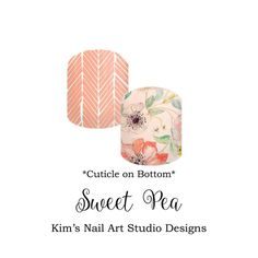 Sweet Pea PRE-ORDER: Jamberry Nail Art by KimsCustomNASdesigns