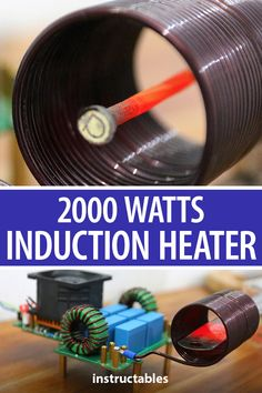 Create a 2000 Watts induction heater which is a great tool for heating metal objects that can come in handy in a DIYers workspace when you need to get things red hot without messing up the whole space. Electronics Projects, Electrical Projects, Welding Projects, Projects To Try, Do It Yourself Videos, Induction Heating, Diy Tech, Homemade Tools, Album Design