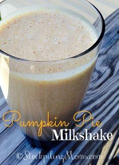 Pumpkin Pie Milkshake that you only need 4 ingredients to make! This milkshake is perfect for Fall or anytime!