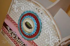 Tays Rocha: Cozinha vintage em scrap decor - Workshop True Colors #crafts #artesanato #scrapdecor #vintage #homedecor #taysrocha #ateliermundocountry