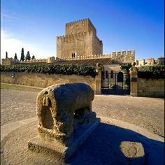 CASTLES OF SPAIN - Castillo de Enrique II,  ó  de Ciudad Rodrigo, Salamanca. Fortaleza del siglo XIV, localizada en la ciudad salmantina de Ciudad Rodrigo. A pesar de que se le conoce con el nombre de otro monarca, fue Fernando II de León quien mandó construir el castillo original sobre una fortificación primitiva.  En 1372, sería de nuevo reconstruido, esta vez por Enrique II de Trastámara. Desde el 3 de octubre de 1929 es Parador Nacional.