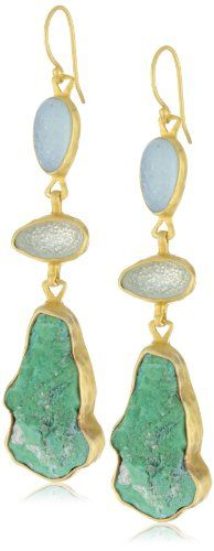 "Heather Benjamin ""Elegant Earth"" Triple Druzy and Turquoise"