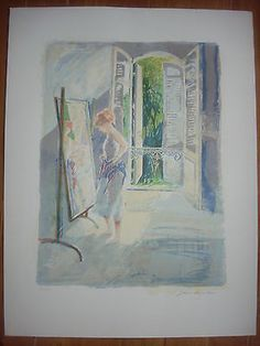 French Interior, Lithograph by Jane Corsellis