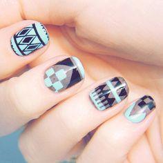 45 Tribal Aztec Nail Designs