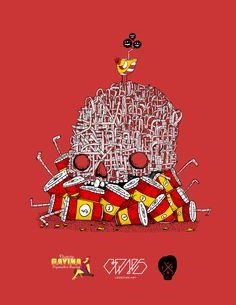 Poster anti consumo del pitillo de plastico  para restaurante gourmet Distrito gayina ubicado en chapinero