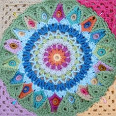 SPINNING TOP BLANKET: Preparing for the join, circle to square
