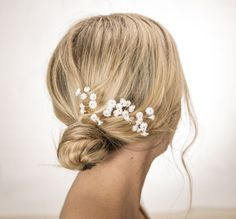 Baby's Breath Hair Pins Bridal Hair Piece