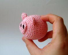 Amigurumi plush pig nursery baby girl toy by sabahnur