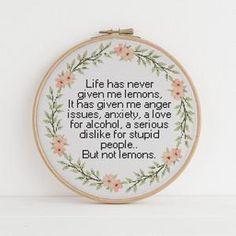 Funny Cross Stitch Patterns, Cute Cross Stitch, Cross Stitch Designs, Cross Stitching, Cross Stitch Embroidery, Embroidery Patterns, Funny Embroidery, Embroidery Art, Cross Stitch Quotes