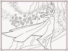 In tranh tô màu công chúa elsa dễ thương hình ảnh 7