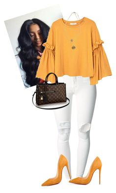 """Untitled #655"" by cogic-fashion on Polyvore featuring (+) PEOPLE, MANGO, Christian Louboutin, Kenneth Cole and Louis Vuitton"