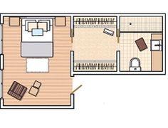 Plano y presupuesto del dormitorio