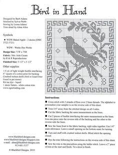ru / Foto # 2 - Bird in mano - mtecuka Cross Stitch Sampler Patterns, Cross Stitch Freebies, Cross Stitch Borders, Cross Stitch Samplers, Cross Stitch Charts, Cross Stitch Designs, Cross Stitching, Cross Stitch Embroidery, Cross Stitch Finishing