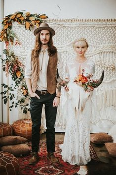 hippie wedding 419045940325640424 - 30 Rust Wedding Color Ideas ❤️ rust wedding color macrame backdrop with greenery and leaves bohemian groom and bride nhiya kaye photography Source by weddingforward Bohemian Groom, Bohemian Weddings, Vintage Weddings, Indian Weddings, Estilo Hipster, 2018 Wedding Trends, Trends 2018, Boho Wedding Decorations, Boho Wedding Dress