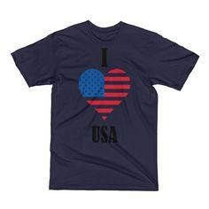 I love USA ( Short Sleeve T-Shirt)