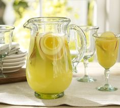 Need to remember to get a plain old pitcher!!!  Casa Recycled Glass Pitcher | Pottery Barn