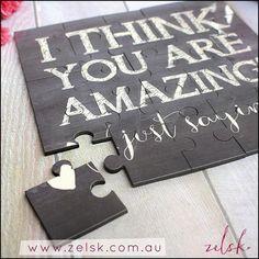'You are amazing!' hardboard keepsake jigsaw puzzle.