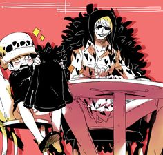 Own fluffy jacket/Law,Corazon/One piece