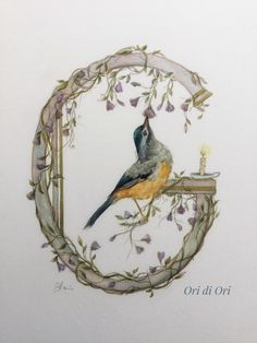Tattoo Lettering Design, Creative Lettering, Alphabet Art, Letter Art, Watercolor Bird, Watercolor Paintings, Illumination Art, Illustration, Painted Letters