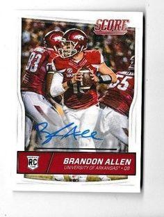 2016 Score Football  #428 Brandon Allen RC Auto #Score