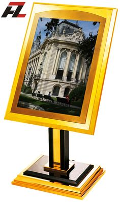 Titanium Gold Coated Poster Stands for Sale-Poster Display
