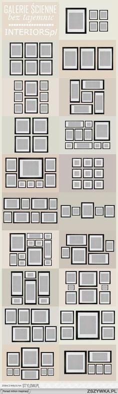 Przykłady rozmieszczania ramek ze zdjęciami