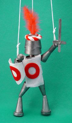 Crafty Kids Recycled Knight puppet kit