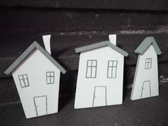 3 x Strandhaus Holzhaus shabby maritim Dänemark von Nostalgie Gretel häkelt und schenkt auf DaWanda.com