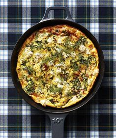 Kale and Goat Cheese Frittata   Yes, frittatas are often enjoyed at brunch time. But chopped curly kale and fresh dill make this version perfectly suitable for dinner—and if there are any leftovers, you can enjoy them for breakfast. When you're whipping it up, don't skip the nonstick skillet, as it's crucial for easy serving. When you do go to serve, remember not to use a knife on your nonstick surface. If possible, scoop portions out with a big spoon (preferably rubber). This dish lasts…