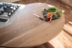 This bespoke Oak breakfast bar was high on our clients the wish list - somewhere lovely to sit together for morning coffee & to help prep food. The oak is gently curved, tactile and naturally so pretty. Breakfast Casserole Sausage, Breakfast Bake, Greek Yogurt Breakfast, Healthy Biscuits, Timber Kitchen, Breakfast Bar Kitchen, Bespoke Kitchens, Breakfast At Tiffanys, Oatmeal Recipes
