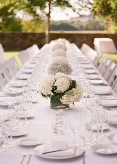 simple outdoor reception setting