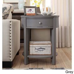 Fillmore 1-drawer Oval Wood Shelf Accent End Table by Inspire Q (
