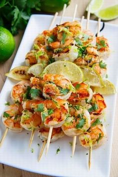 Leave the shrimps off the field with these cilantro lime grilled shrimp. #cleaneating