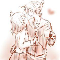 Kagamine Rin and Len Vocaloid Len, Kagamine Rin And Len, Kaito, Anime Couples, Cute Couples, Manga Romance, Cute Couple Drawings, Anime Artwork, Kawaii Anime