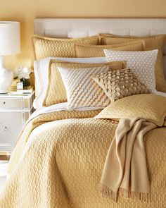"""""""Bradley"""" Bed Linens by SFERRA at Horchow."""