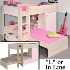 The Ninety Bunk Bed From Parisot Is A Flexible For Girls That Can Be