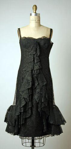 Anthony del Castillo dress ca. 1965 via The Costume Institute of The Metropolitan Museum of Art Historical Clothing, Women's Clothing, Costume Institute, 1960s Fashion, Metropolitan Museum, Fashion History, Vintage Dresses, Costumes, Clothes For Women