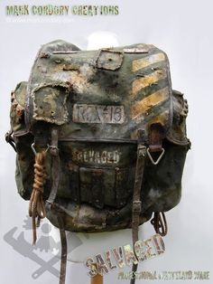 Post Apocalypse costume. Rucksack. SALVAGED Ware enquiries welcome @ www.markcordory.com