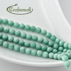 Amazonite - 6mm Gemstone Beads - Faceted Round 17 Beads Quarter Strand $6.00