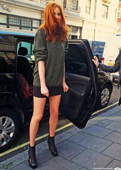 Karen Gillan -- I always love her hair and outfits