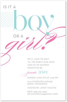 Gender Neutral Baby Shower Invitations Pink Blue Duckies 32181