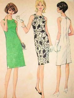 1960s McCALLS 8267  DRESS PATTERN SLIM HALTER NECKLINE COCKTAIL PARTY DRESS