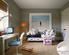 Great stylish teenager boy room.