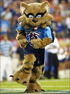 T-Rac, the Tennessee Titans mascot. He has been cheering on the Titans since 1999.